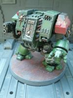 WH40K Space Marines Salamanders Dreadnought 3/4 by raipo