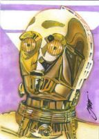 C3P0 card art by SteveStanleyArt
