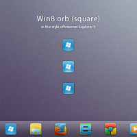 Win8 orb 'square for Windows 7 by ap-graphik