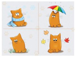 Four Seasons Of Cat by Tarisha