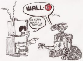 WALL-E meets AWESOM-O by RCWikkydArtist