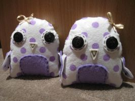Purple Spotty Owl Sisters by xxxCassandraxxx