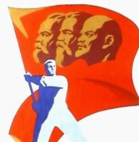 Marx-Engels-Lenin flag symbol (real, historical) by YamaLama1986