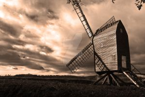 Overcast Windmill by randomridds