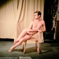 Seated Nude Male by TheMaleNudeStock