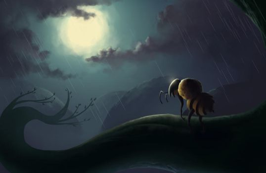 Lonely Bee by Jessso