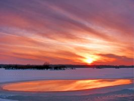 winter sunset by victor23081981