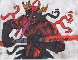 Symbiote Darth Maul stance by ChahlesXavier