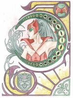 Watercolor Print: Catra by JAWart728