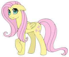 Timid Fluttershy by Stalkerpony