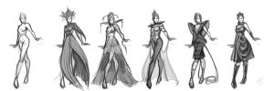 Rivet Cyrne parade dress concepts by pandatails
