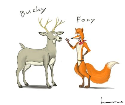 Foxy and Bucky by Louisetheanimator