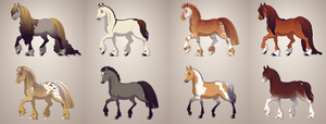.:2 Point Horse Adopts OPEN:. by jayjaythecatsadopts