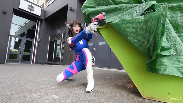 D.va Overwatch Cosplay - Shootout 3 by Hollitaima