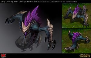 Rek'Sai the Void Burrower Early Concept Pitch by Yideth