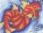 Red Gyrados by bRiXbRi