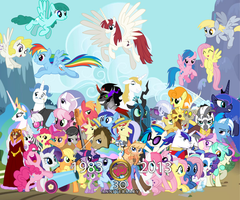 My Little Pony: 30th Anniversary wallpaper by SMWStudios
