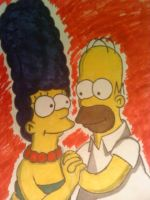Homer and Marge by AwesomeCAS