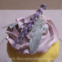 Close-up of Lavender Cupcake by TheCopperDragon2004