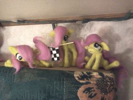 Filly Fluttershy trio by Element0fKindness