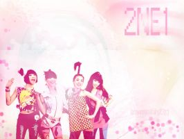 2NE1 Pink Blast Wallpaper by browneyedfairy23