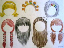 Hairstyles Part 1 by errisirre