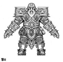 Dwarven Warrior Frontal View by Ashlore