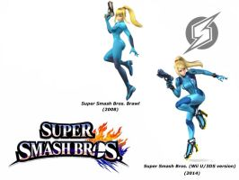 Zero Suit Samus (Super Smash Bros. Evolution) by delvallejoel