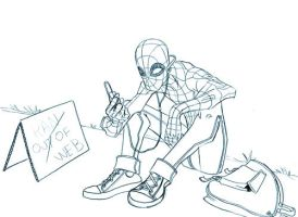 Spidey waiting by allanced