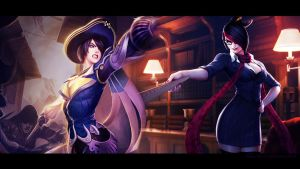 Royal Guard and Headmistress Fiora Wallpaper by Koshka-Stuff