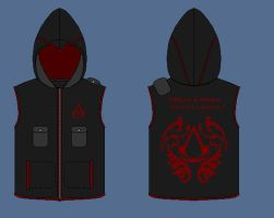 black Assassin hoodie by apaskins1991