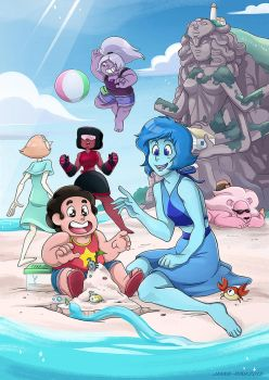 Beach summer fun buddies by Loihtuja