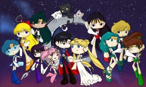 Chibi Sailor Moon Cast by chipperpony