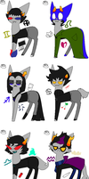 Homestuck Troll adopts 1/2 .:CLOSED:. by R-C-R