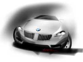 BMW design sketch front by p-sketch