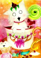Teacup Kitty by MadameMochete