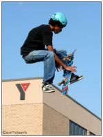 kickflip indy at the Y by scottchurch