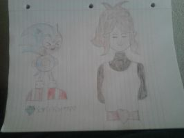 Classic Sonic meets Hilda! by SonicAndHildaFan11