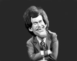 David Letterman Sketch by DoodleArtStudios