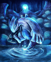 Eternal Ripple of Lugia by Deruuyo