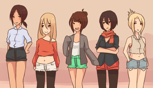 Snk Girls by tiriii