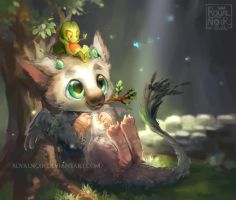 Trico and Treecko by RoyalNoir
