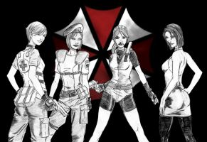 Raccoon City Ladies by NinjaSpidey