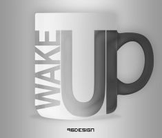 Wake Up - Cup Design by 96design