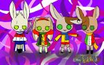 Bunny Tomato Gang by Painted-Polarbear