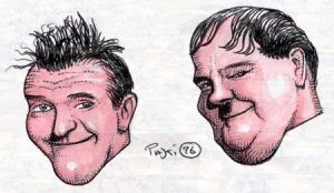 Laurel and Hardy by Rustyoldtown