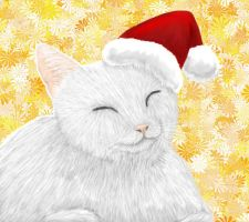 Santa Cat by Meorow