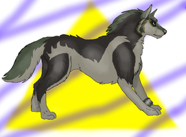 Wolf Link by TheDragonInTheCenter