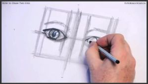 Learn how to draw two eyes 010 by drawingcourse
