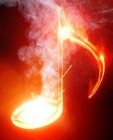 Fire music note by arghus